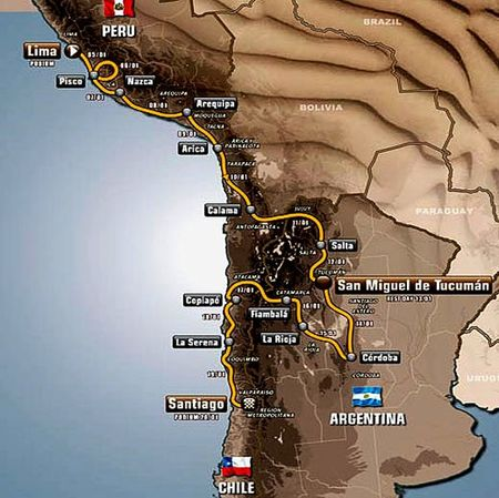 The Map of Dakar 2013